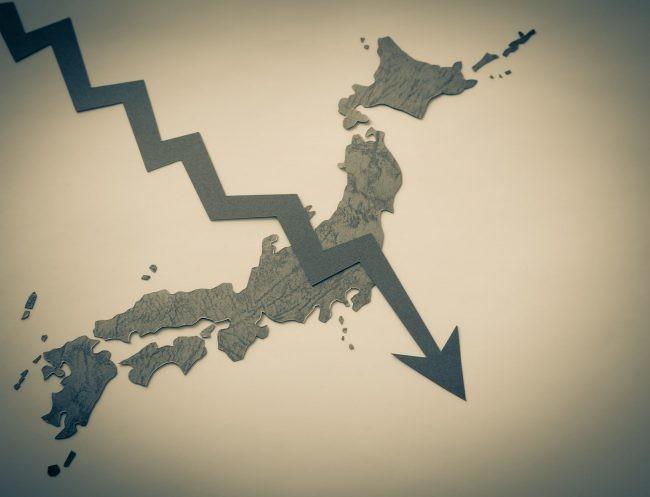 日本低迷イメージ